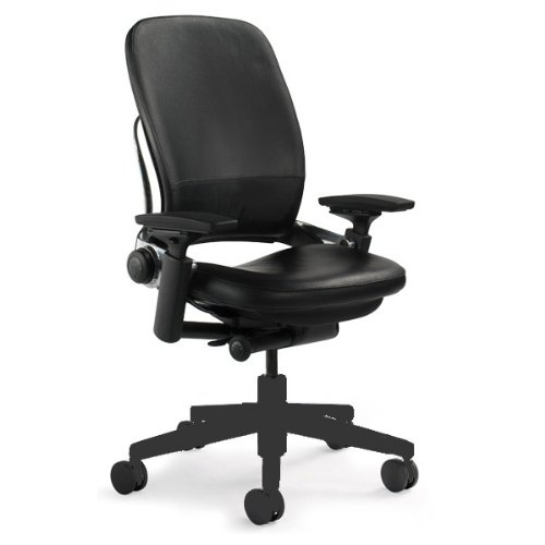 Steelcase Leap Black Leather Chair