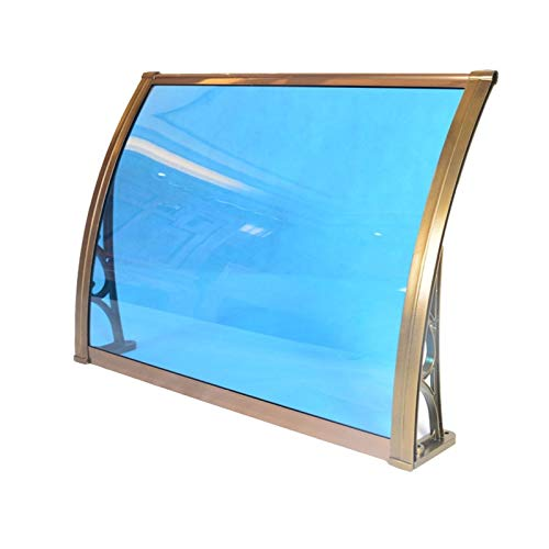 Arc Door Roof Awning Shed Mute Rain Snow Resistant Polycarbonate Panel Easy Fit It Can Be Connected In Multiple Groups (Size : 100x100cm)