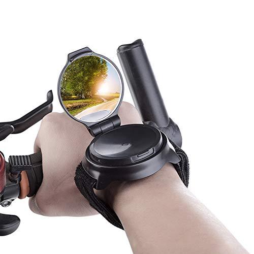 Gobesty Fahrradspiegel, Armband Fahrrad Spiegel Rückspiegel, 360°Drehspiegel Rückspiegel, Sicherheit Handgelenk Spiegel, Fahrrad Zubehör Sicherer Rückspiegel für Fahrrad Motorrad E-Bike