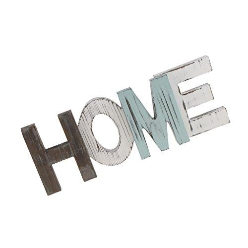 Moderner Schriftzug HOME aus Holz zur Deko auf Tisch Wand, 41,8 x 15,2 x 4,2 cm