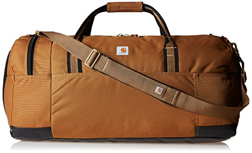 Gear bag made of rugged synthetic material with Rain Defender durable water repellent, plus heavy-duty Duravax abrasion-resistant base Large main duffel compartment holds tools or a change of clothes; secondary shoe compartment and zippered pocket or...