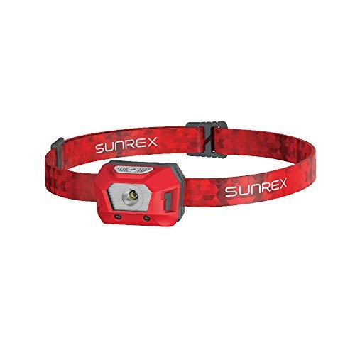 Sunree Mini2 - Linterna frontal para niños (105 lúmenes), color rojo