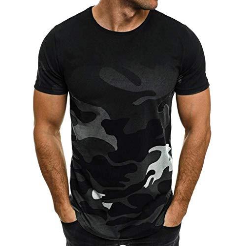 Mannen T-shirt - Camouflage Printing - O-Neck - Slim - Fashion Casual Super Premium met korte mouwen Sport T-shirt Top Blouse (Color : Size L2/Bust 45.7