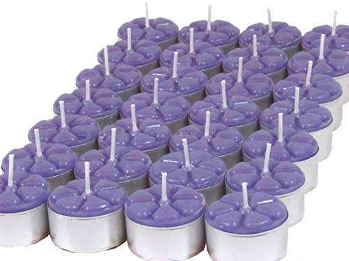 12 Velas Aromáticas Jasmim Aromatizada Luxo Rechaud lilás
