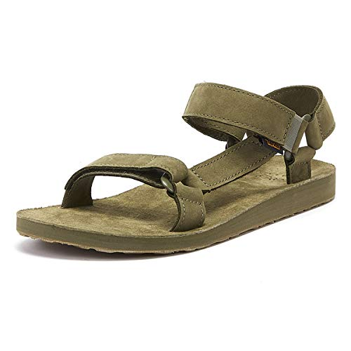 Teva Herren Original Universal Leather Mens Sandalen, Grün (Burnt Olive Btol), 43 EU