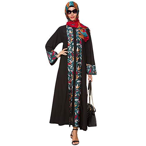 Vrouwen Moslim Robes Islamitische Jurk Lange Mouw Lange Jas Marokkaanse Kaftan Caftan Jurk Chiffon gewaad (Zonder Turban)