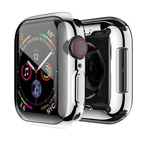 Funda de reloj para Apple Watch 5 4 44MM 40MM Chapado protector Tpu 360 delgado suave para iwatch Serie 3 2 1 42MM 38MM