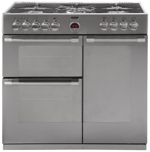 Stoves STERLING 900DFT S\/STEEL 900mm Dual Fuel Range Cooker 5 x Burner Gas Hob S\/Steel