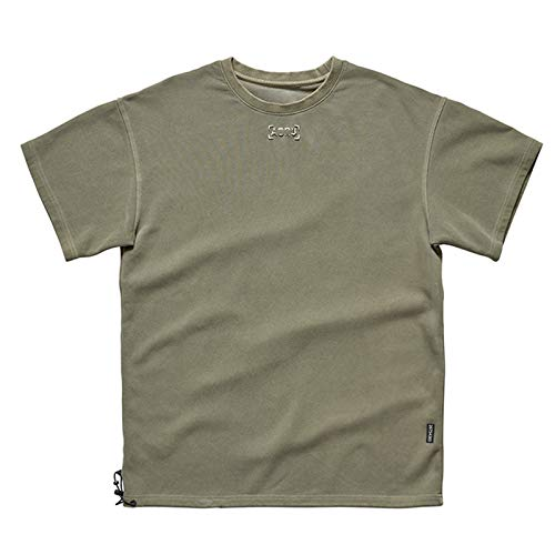 SSBZYES Camiseta para Hombre Camiseta De Manga Corta para Hombre Camiseta De Verano Camiseta Holgada De Gran Tamaño con Cuello Redondo para Hombre Marca De Marea Bordado Lavado Deportivo Camiseta