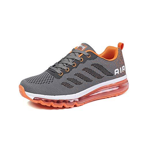 Hardloopschoenen Sportschoenen Heren Dames Ademend Fitness Schoenen Buitenshuis Licht Shoes grayorange 42