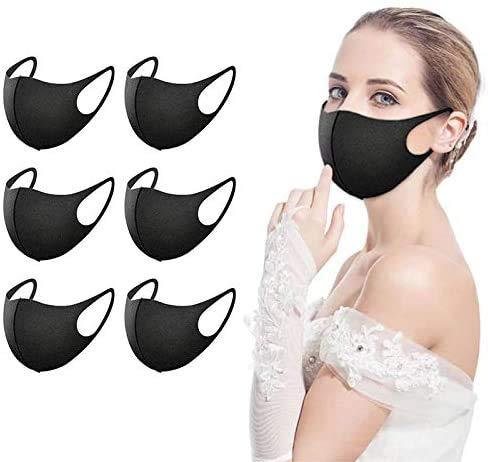 Tianfu - Cubrecolchón para rostro, 12 unidades, color negro, lavable, reutilizable