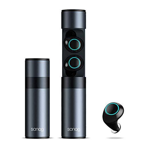 Bluetooth ワイヤレスイヤホン 防水 IPX7 高音質 ハンズフリー通話 最新Bluetooth5.0 3Dステレオサウンド HiFi 完全ワイヤレス イヤホン ブルートゥース イヤホン 左右分離型 スポーツ (ブラック)