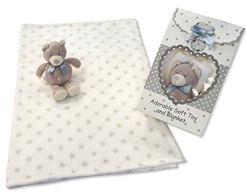Couverture pour bébé et ours Ensemble cadeau en gris