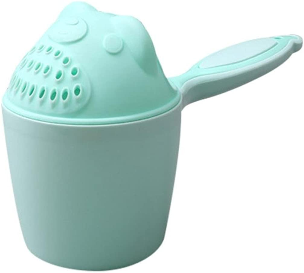 Green SO-buts Baby Shower Bath Plastic Soft Toys Waterfall Kids Shampoo Rinse Cup Bath Shower Washing Head Cup Bear Water Scoop