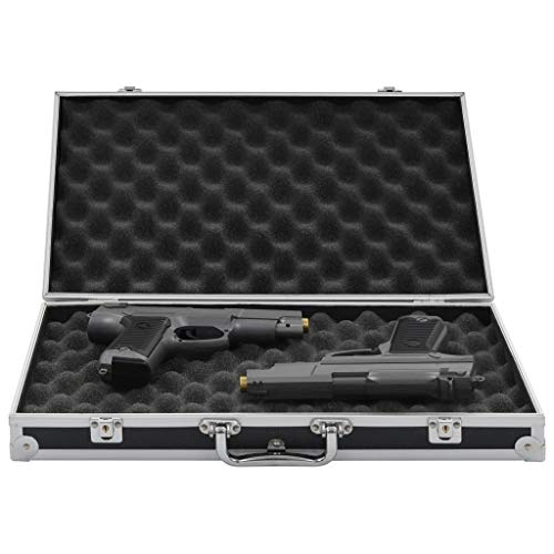 Festnight- Waffenkoffer | Abschließbar Pistolenkoffer | mit 2 Schlüssel | Schwarz Aluminium ABS | 47 x 26 x 8,3/31 x 26 x 15,2/31 x 26 x 8,3 cm