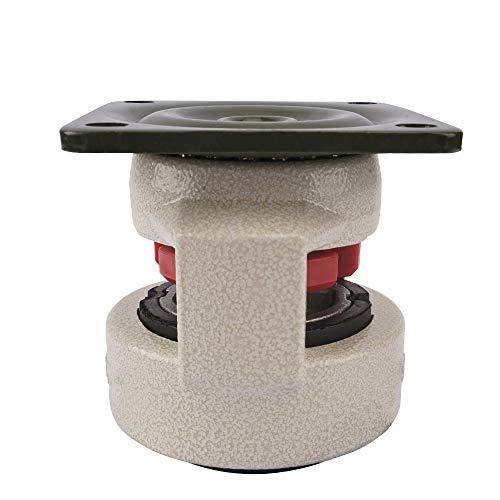 """41hfVd5B1hL. SL500  - Fafeicy 4 piezas 2""""Placa superior giratoria de 360 grados, rueda de nivelación retráctil, rueda giratoria para máquina industrial, capacidad de 551 libras para trabajo pesado"""