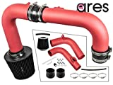 Ares Motorsports Red Heat Shield Cold Air Intake + Filter 11-15 Compatible With Chevrolet Cruze 1.4L Turbo