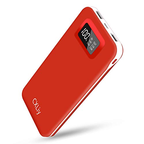 CXLiy Portable Charger 24000mAh Power Bank, Cell Phone Charger with Dual Outputs Dual Inputs LCD Display Battery Pack Compatible with Smart Phone, Tablet and Android Device