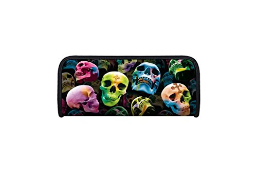 Idena 23913 - Faulenzer 3D-Optik, Motiv Totenkopf, 21 x 9 x 4,6 cm