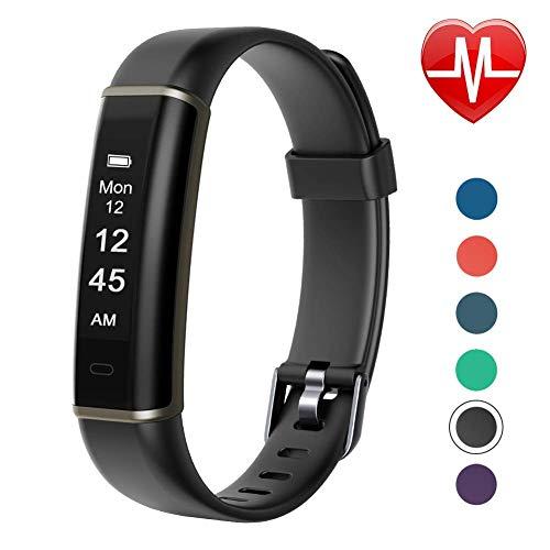 Letsfit Fitness Armband mit Pulsmesser, Fitness Tracker Aktivitätstracker Schrittzähler Smartwatch Pulsuhren IP67 Wasserdicht für Herren, Damen und Kinder
