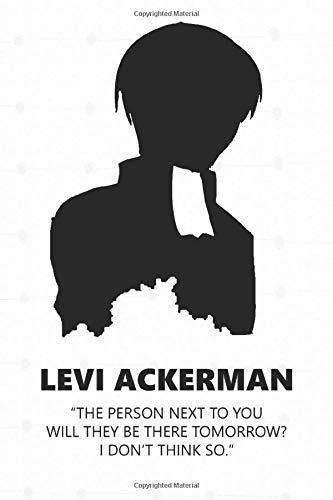 Levi Ackerman: Anime Lover Notebook, 112 Lined Pages, 6 x 9, Gift, School&Office, Attack On Titan, Levi