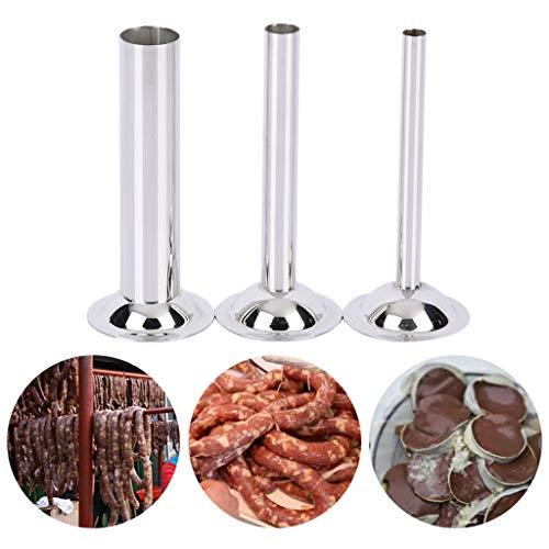 ZChun - 3 piezas de acero inoxidable manual para embutidos