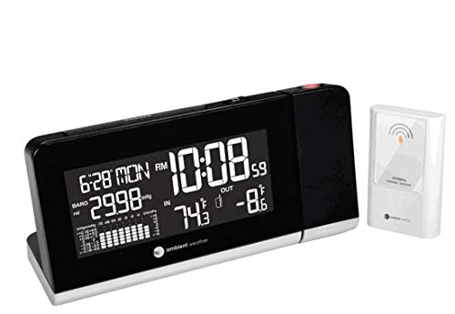 Ambient WS-8460 Projection Clock With Temperature Display