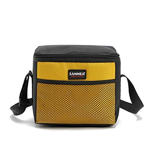 HEHXKJ Bolsa de Picnic Picnic portátil Picnic Kit de Necesidad Aislado térmico Almuerzo Almuerzo Bolsa Termica Bolsa Refrigerador Caja Bolso (Color : Yellow)