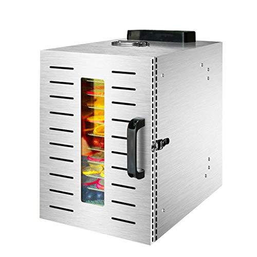 New HJTLK Food Dehydrators,Fruit Dehydrator,304 Stainless Steel Body Adjustable Temperature 30 to 90...