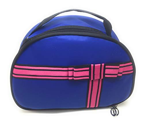 Ducomi® Khloe make-up tas gemaakt van nylon voor potloden, penselen, lippenstiften en cosmetica - etui met tas en spiegel binnen - 23 x 16 x 10 cm