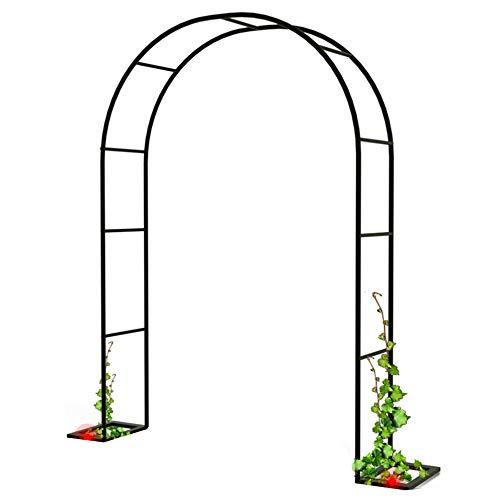 Balkon Wand Schmiedeeisen Freizeit Leichte Metall Garten Bogen Blumenständer Outdoor-Eingangstür Hochzeit Kletterpflanzen Torbogen, Schwarz, Mehrere Größen