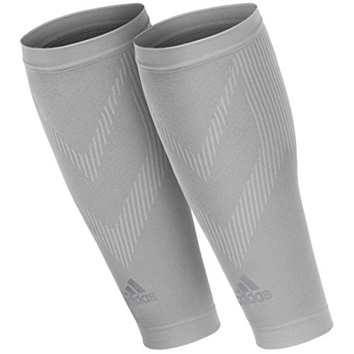 adidas Compression Calf Sleeves Mangas de compresión para pantorrillas, Unisex Adulto, Gris, S/M
