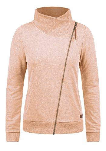 DESIRES Candy Damen Sweatjacke Jacke Sweatshirtjacke Mit Stehkragen, Größe:XL, Farbe:Mahog. Rose (4203)