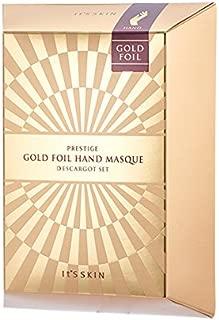 [It's Skin] PRESTIGE Gold Foil Hand Masque D'escargot 1SET
