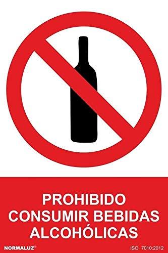 Normal uz RD40046 - verbodsbord voor consumptie van alcoholische dranken PVC glasspack 0,7 mm 21 x 30 cm