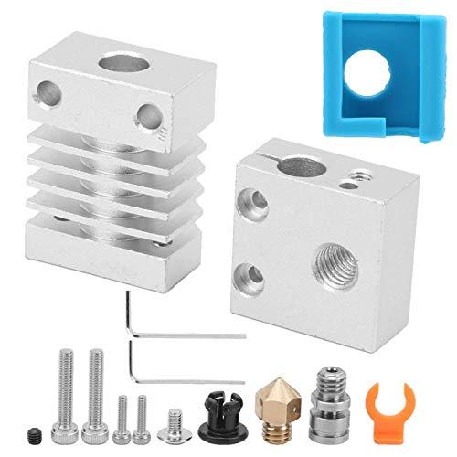 3D Printer Extruder Upgrade Kit All Metal Hotend Kit Rich & Varied Upgraded Cooling Block 3D Printer Hot End Heating Block for CR-10/CR-10S/Ender-3/MINI