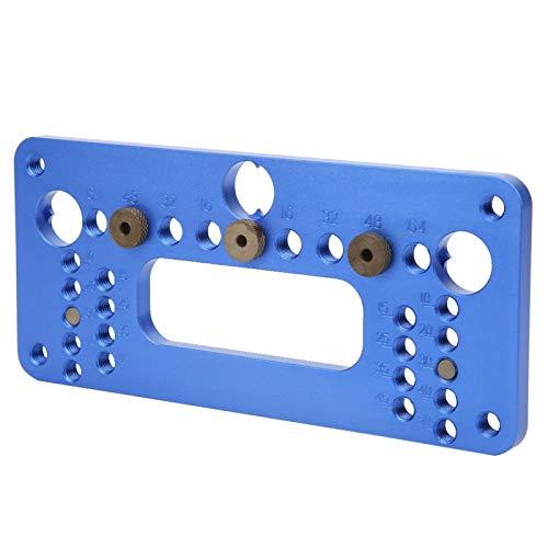 Aleación de aluminio 08610A Tipo Profesional Estructura razonable Abridor de orificios para carpintería con destornillador para carpintería(08610A blue)