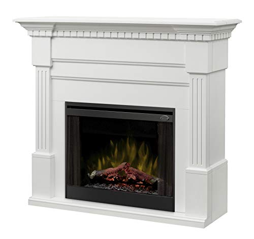 Best Price Dimplex Christina (Buildrite Series) - Classic Fireplace Mantel with Fluted Columns, Carv...