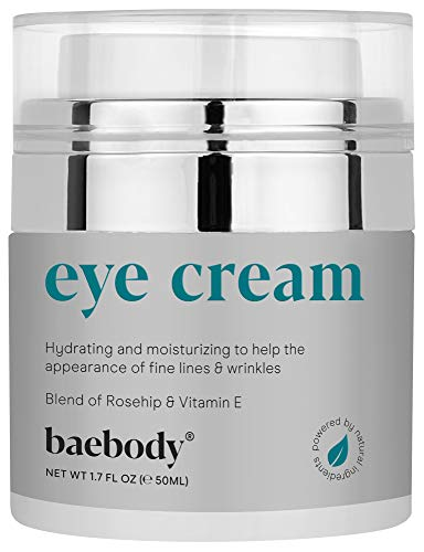 Baebody Eye Cream with Rosehip and Hibiscus to Reduce Puffiness and Dark Circles while Improving Elasticity, 1.7 Ounces