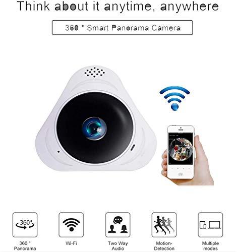 L.TSA Baby Monitor HD 960P 3D VR cámara WiFi 360 Grados Vista Completa Mini cámara CCTV 1.3MP Red Seguridad para el hogar Cámara Wi-Fi IR panorámica