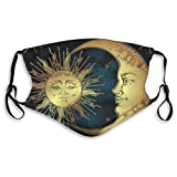 Comfortable Printed mask,Moon and Sun,Windproof Facial decorations for man and woman