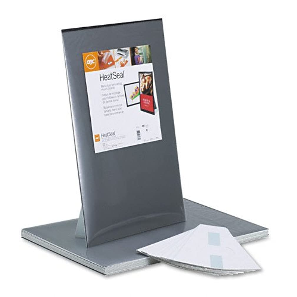 GBC HeatSeal Menu Size Mount Board with Easel Stand, 12.5 x 19 -Inches, Black, 12 Boards per Pack (3745171)