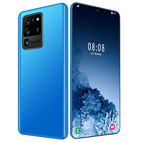 AYZE Smartphones Sim Free Unlocked 4g 7-Inch Screen, 4800mah Battery, 16mp-32mp Professional Camera, Face Unlock, Mobile Phone with Earphone Smartphone 4gb Ram Android 10 128GB Blue
