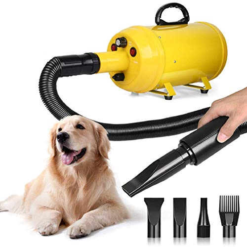Amzdeal Dog Dryer Dog Hair Dryer 3.8HP 2800W