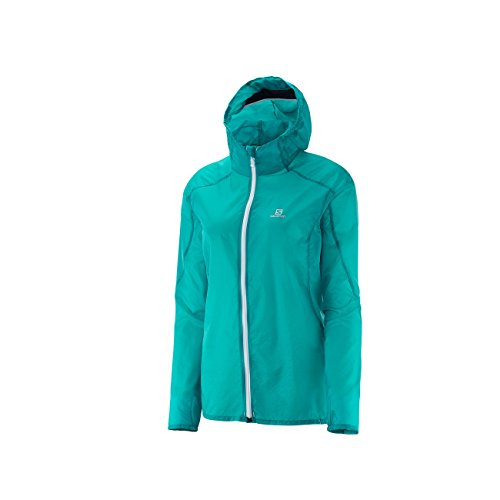 Salomon Fast Wing Hoodie Women Teal Blue F M