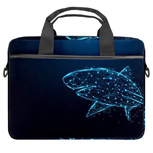 Starlight Shark Vector Laptop-Tasche, Messenger-Tasche, schmale Aktentasche mit Umhängetasche, Computer-Tasche und Tablet-Tragetasche für 13,4-14,5 Zoll