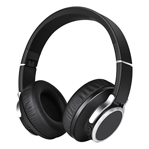Bluetooth Kopfhörer Over-Ear Sport Kopfhörer Bloothooth Kabellos 24 Stunden Spielzeit Headset Zuhause Schwarz