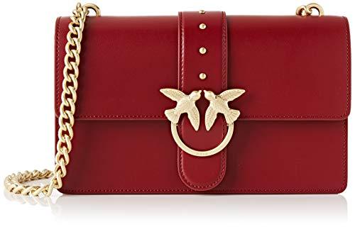 Pinko Love Simply 11 Catena, Borsa a tracolla Donna, Rosso (Dark Red), 7.5x16.5x27 cm (W x H x L)
