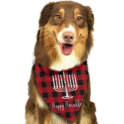 HJKH PJKL Happy Hanukkah Pet Dog Puppy Cat Balaclava Triangle Bibs Scarf Bandana Collar Neckerchief Mchoice - Any Pets