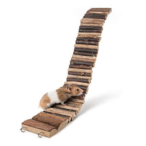 Niteangel Suspension Bridge for Hamsters, Small Pet Ladder, 21.8' x 2.8'